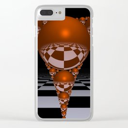 Apollonian gasket - orange Clear iPhone Case