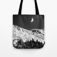 yosemite Tote Bags featuring Yosemite by Claude Gariepy