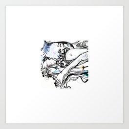 Surfing Feet Art Print