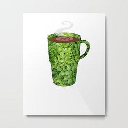 greenery extra large mug - coffee cup series Metal Print