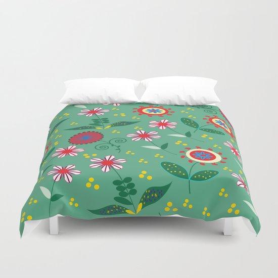 Floral pattern # C10 Duvet Cover