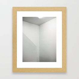 White On White Framed Art Print