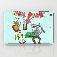 evil dead iPad Cases featuring ♥ EVIL DEAD 2 ♥ by Josh LaFayette