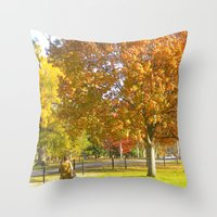 photographer Throw Pillows featuring Photographer by VicSal