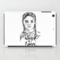 arya iPad Cases featuring Arya stark by Nicolaine