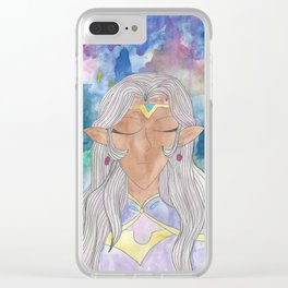 Space Princess Clear iPhone Case