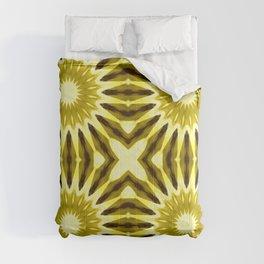 Golden Yellow Pinwheel Flowers Comforters