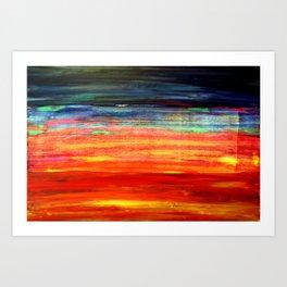 Abstract Art Acrylic Painting Original Canvas Art - Under the Skin Art Print