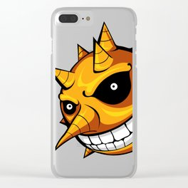 Scary Sun Clear iPhone Case