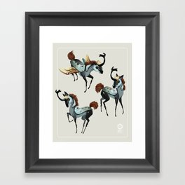 Tiny Unicorn Framed Art Print