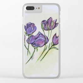 Water Color Pencil Exercise Clear iPhone Case