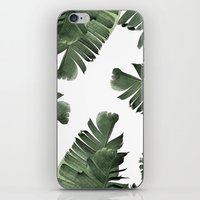 banana leaf iPhone & iPod Skins featuring Banana Leaf Frenzy #society6 by 83 Oranges™