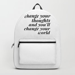 change your world Backpack