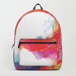 Trippy Rainbow Wave Painting Backpack