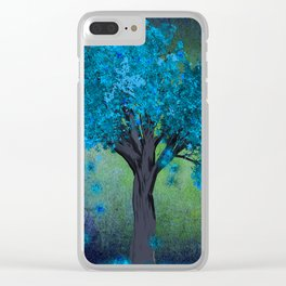 TREE OF BLUE Clear iPhone Case