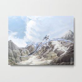 Mountain Dragon Metal Print