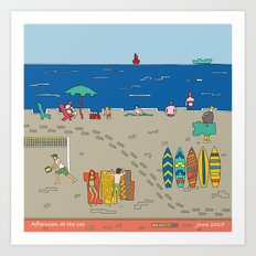 Afternoon at the sea Art Print