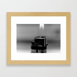 Portrait of a Lighter 2 Framed Art Print