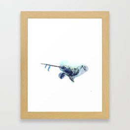 Alphabetical Animals - N is for Narwhal Framed Art Print