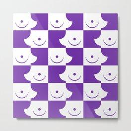 Streapchess_05 | Purple and White Metal Print
