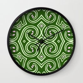 Svortices (Green) Wall Clock