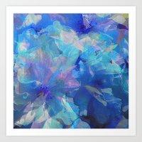 Sakura Blue Art Print