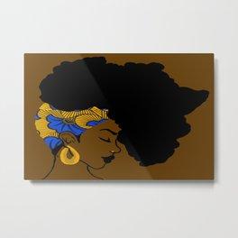 Fro African Metal Print