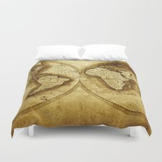 Antique Map of the World Duvet Cover
