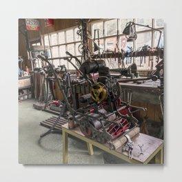 The Olde Lawnmower Metal Print