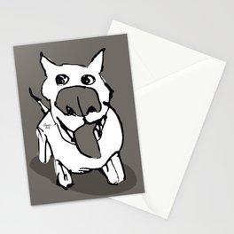 Ciydog - warm gray Stationery Cards