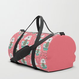 Bears with dots in pink Duffle Bag