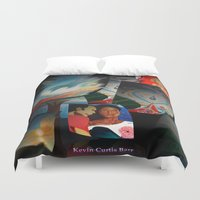 posters Duvet Covers featuring KEVIN CURTIS BARR 'S ART POSTERS by KEVIN CURTIS BARR'S ART OF FAMOUS FACES