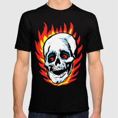 Skull 02 Mens Fitted Tee MEDIUM Black