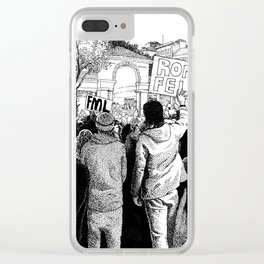Union Square Protest (Part I) Clear iPhone Case