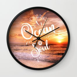 The Voice of the Ocean Wall Clock