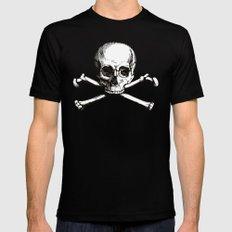 Skull and Crossbones | Jolly Roger MEDIUM Mens Fitted Tee Black