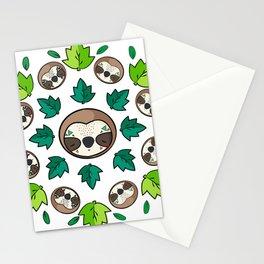 Mandala Sloth Stationery Cards