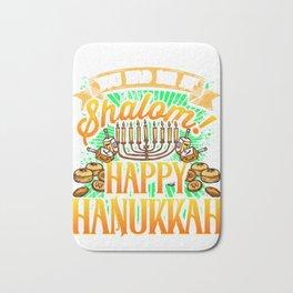 Hanukkah You Had me at Shalom Happy Hanukkah Bath Mat