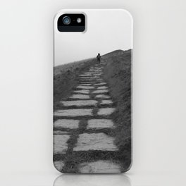 Climbing Mam Tor iPhone Case