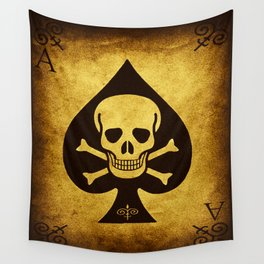 Death Card Ace Of Spades Wall Tapestry