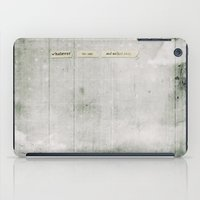 whatever iPad Cases featuring Whatever by Sybille Sterk