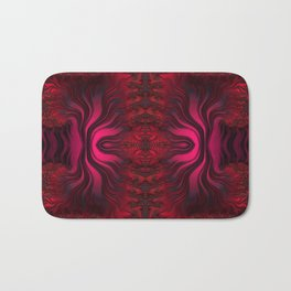 Sunset Reflections Dancing on the Ocean Fractal Abstract Bath Mat