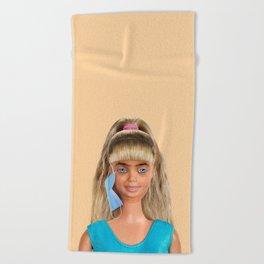 Quarantine Doll Beach Towel