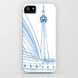 BluePrints | CNTower - Toronto iPhone Case