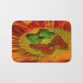 flower of love  (This Art  work is in collaboration with the great artist designer Joe Ganech) Bath Mat