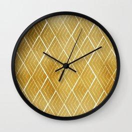 Gold rhombus Wall Clock