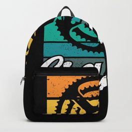Cranky Vintage Sun funny Bicycle Lovers Cycling Backpack