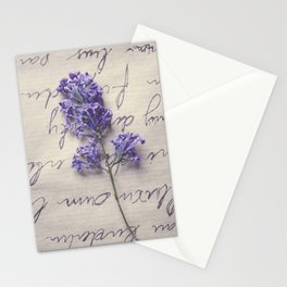 Love Letter With Lilac Stationery Cards
