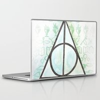 deathly hallows Laptop & iPad Skins featuring Deathly Hallows by Carmen McCormick