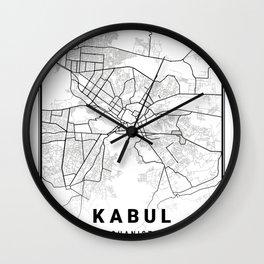 Kabul Light City Map Wall Clock